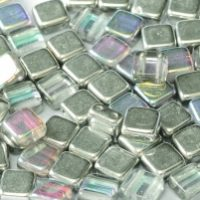 2holesquare6 00030 98530 crystal silver rainbow